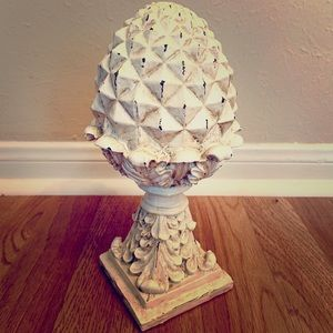 Vintage Filagree Pine Cone Home Decor